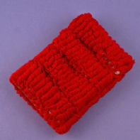 Card of 4 red hair donut bobbles (Code 2187)
